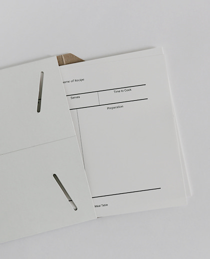 Méal Table Recipe Paper (20 Sheets)