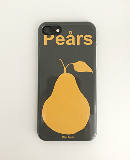Meal table iPhone Case (Pears)