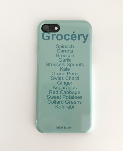 Meal table iPhone Case (Grocery (Mint))
