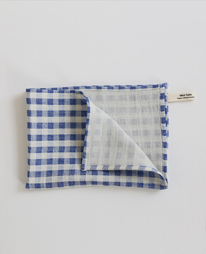 Meal Table Check Kitchen Cloth (blue)